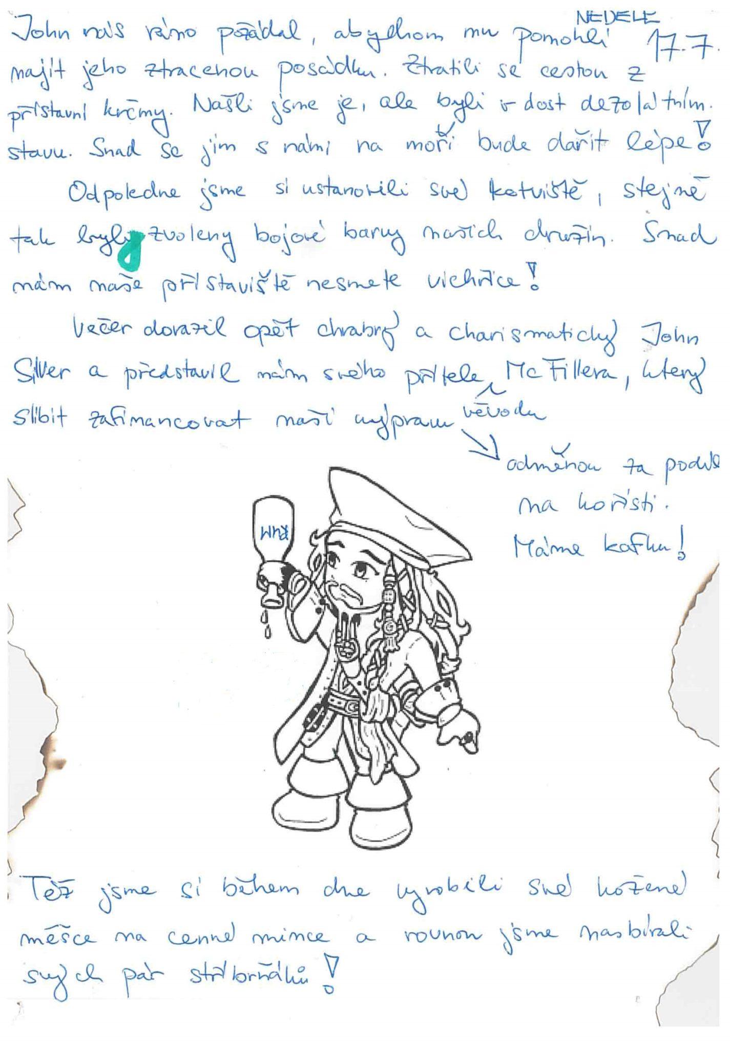 17.7.2016 Vzpomínka na tábor 2016 - Piráti
