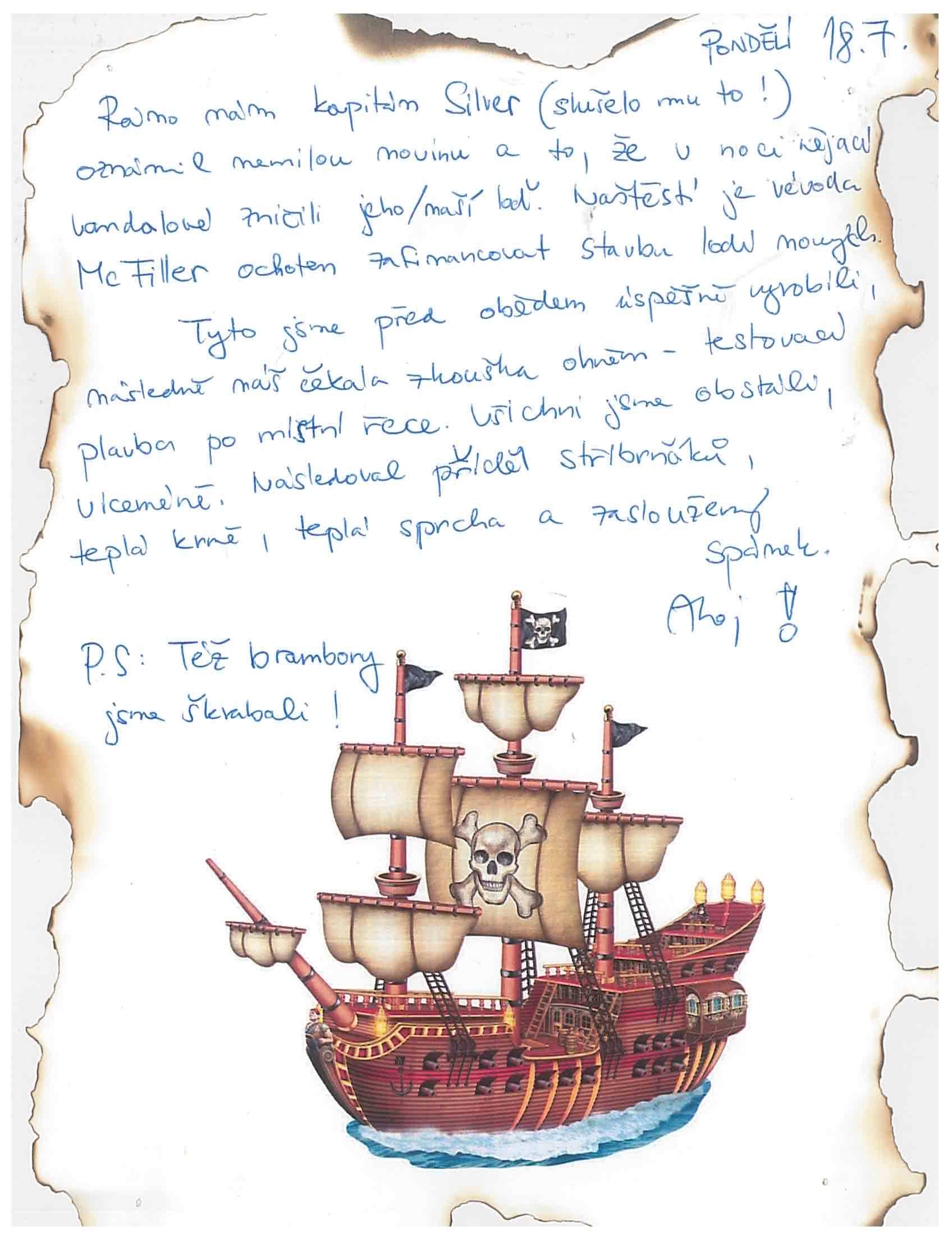 18.7.2016 Vzpomínka na tábor 2016 - Piráti