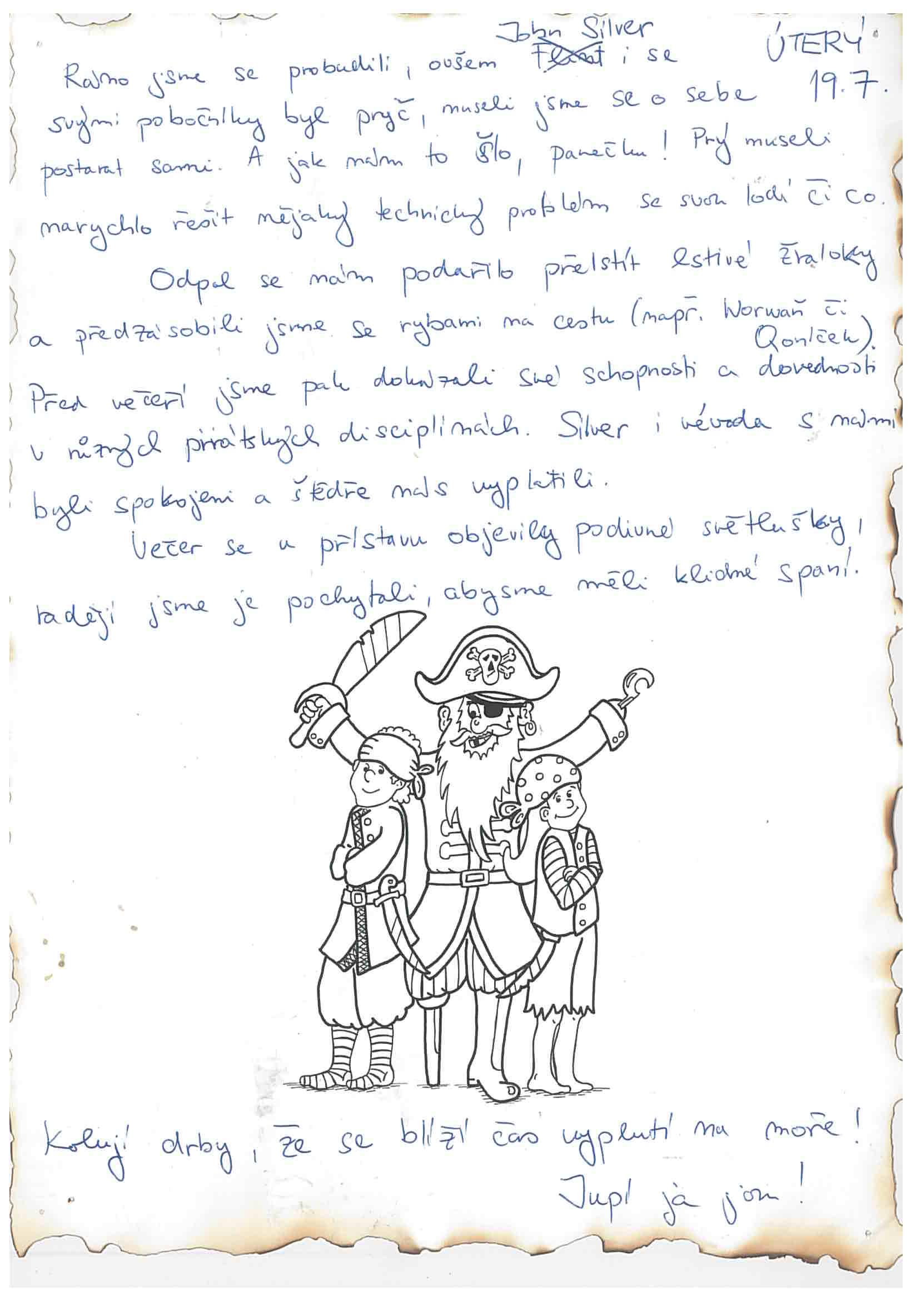 19.7.2016 Vzpomínka na tábor 2016 - Piráti