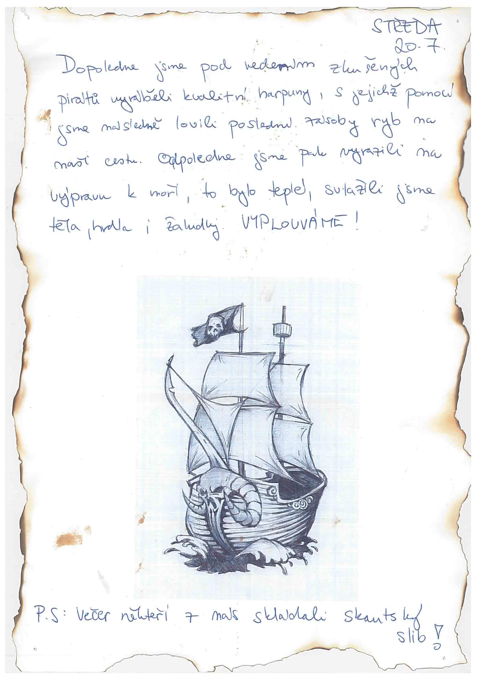 20.7.2016 Vzpomínka na tábor 2016 - Piráti