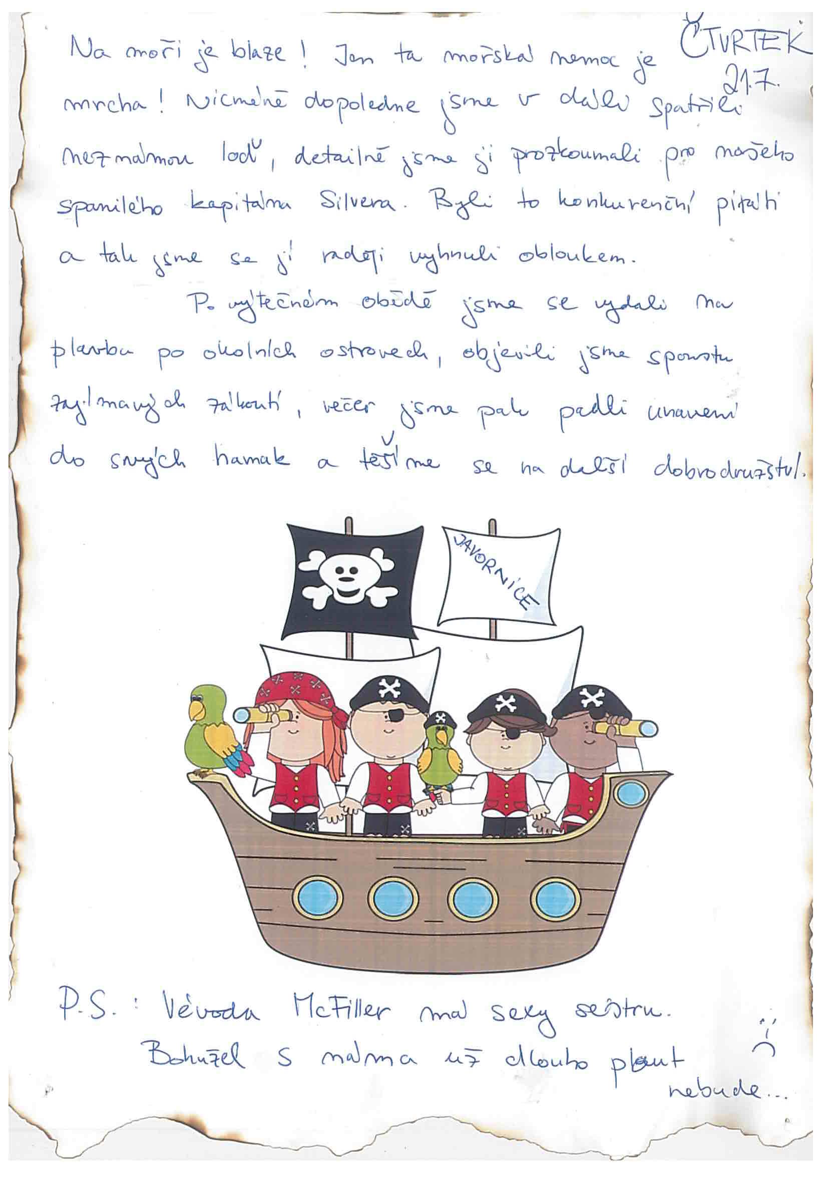 21.7.2016 Vzpomínka na tábor 2016 - Piráti