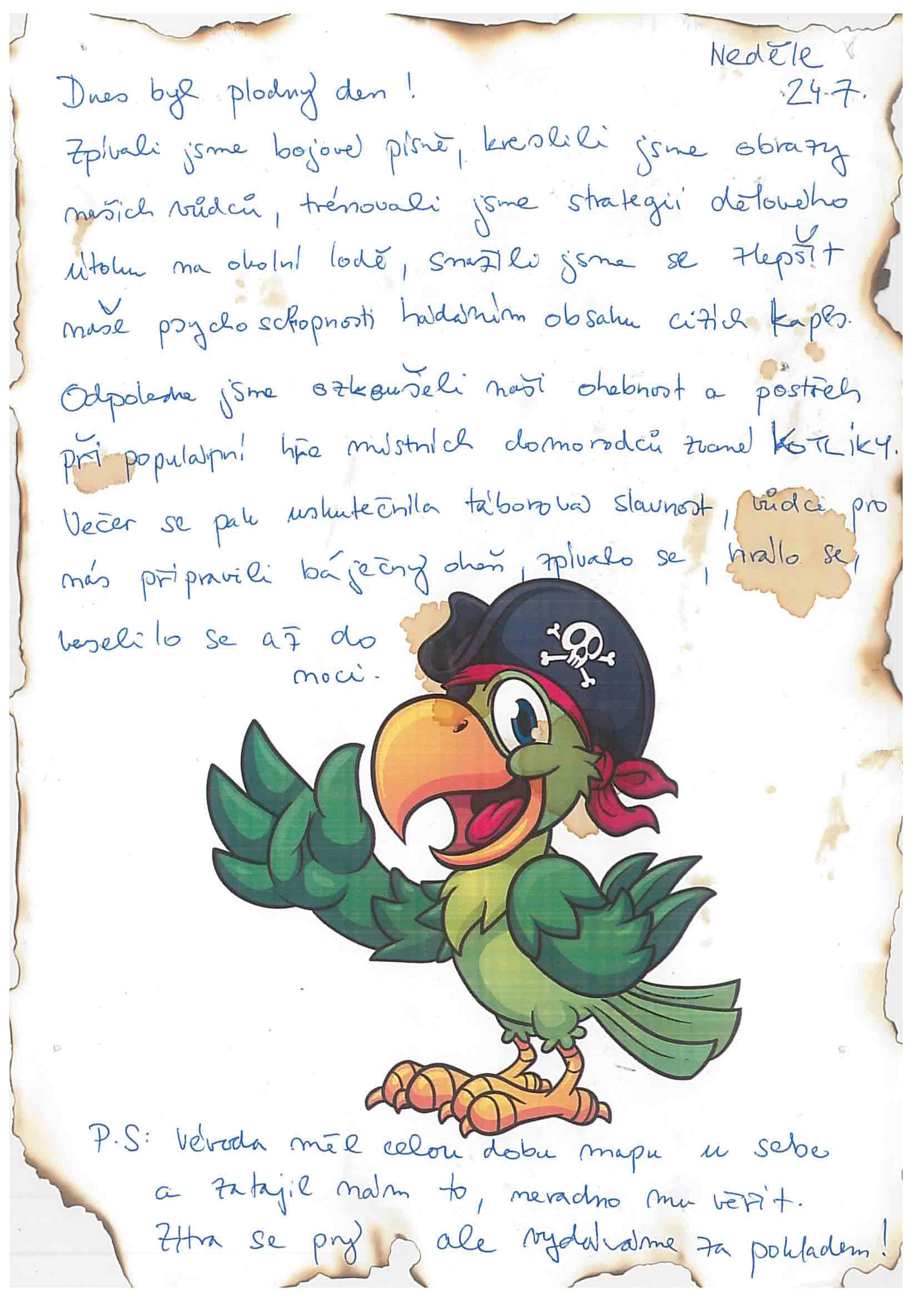 24.7.2016 Vzpomínka na tábor 2016 - Piráti